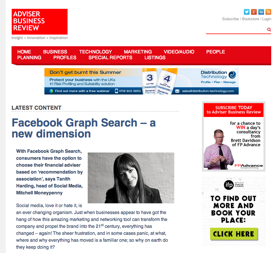 Facebook Graph Search - a new dimension - Adviser Business Review.clipular